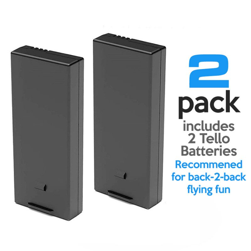 Tello Drone Battery 2-pack - Tello HQ