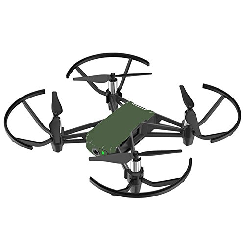 MightySkins DJI Ryze Tello Drone Skin - Solid Olive | Vinyl Decal Wrap Cover